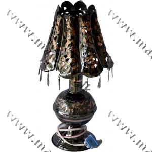 Brass Lamp Shade 3 - Oxidized