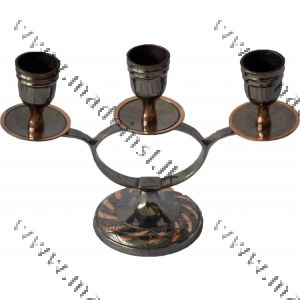Brass Candle Holder 3 - Oxidized
