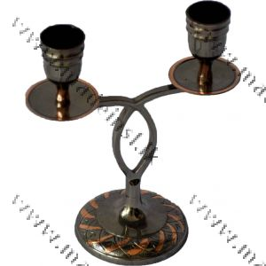 Brass Candle Holder 1 - Oxidized